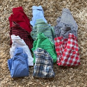 Bundle of 11 long sleeve button up shirts 3t